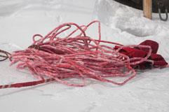 Обмерзшая веревка
