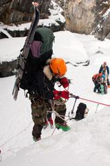 Ледопад на Зун-Голе выше *Стакана*, вид сверху