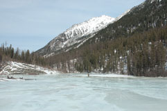Наледь реки Шумак