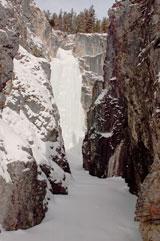 Огромный ледопад на правом притоке ручья Мраморного